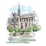 notredame de paris, cathedral, monument
